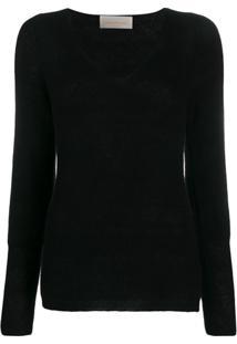 Chiara Bertani Ribbed Knit Jumper - Preto