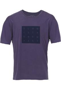 Camiseta Vr Manga Curta Estampa Roxa