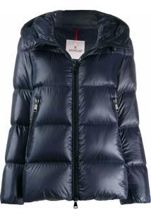 Moncler Logo Puffer Jacket - Azul