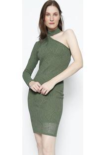 Vestido Ombro ÚNico Em Renda- Verde- My Favorite Thimy Favorite Things