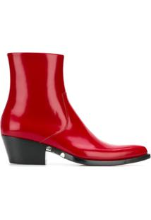 Calvin Klein 205W39Nyc Bota 'Tiesa 3' De Couro - Vermelho