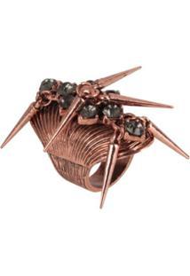 Anel Com Spikes - Helena Massa - Feminino-Bronze