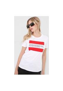 Camiseta Calvin Klein Jeans Lettering Branca