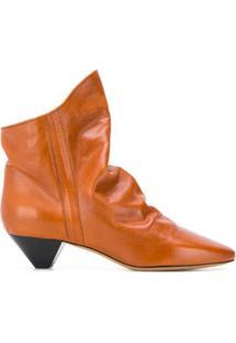 Isabel Marant Étoile Ankle Boot Bico Fino - Marrom