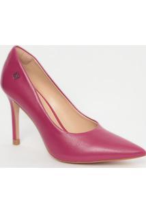 Scarpin Em Couro- Pink- Salto: 9,5Cmcapodarte