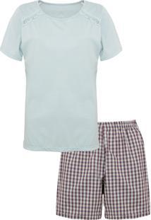Short-Doll Lupo Algodão Azul/Roxo