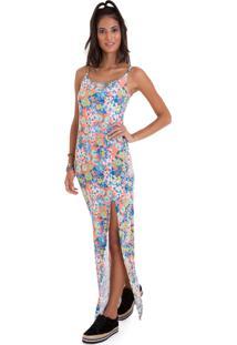 60d4aec7f ... Vestido Manola Longo Alça Fina Com Detalhe De Fenda Lateral Rosa Claro