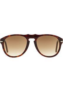 Óculos De Sol Persol Piloto Po0649 Masculino - Masculino-Marrom