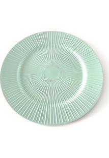 Sousplat De Plástico Le Plisse Verde 33Cm