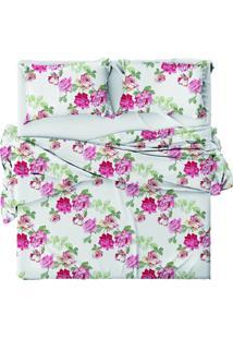 Jogo De Cama Camesa Cotton Plus Belize Queen Multicolorido