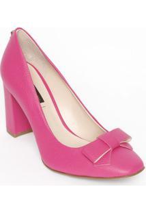 9f0cdf66de ... Sapato Tradicional Em Couro Com Laço   Tag- Pink- Sajorge Bischoff