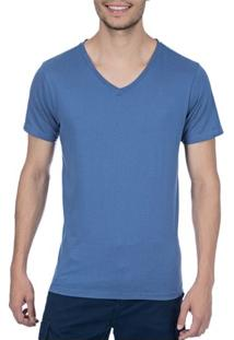 Camiseta Masculina Azul Lisa - P