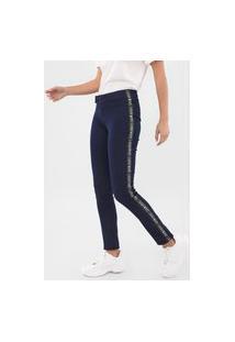 Calça Jeans Zinco Jegging Faixas Laterais Azul