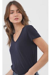 Camiseta Dzarm Lisa Azul-Marinho