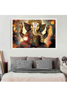 Quadro Love Decor Com Moldura Lord Ganesha Branco Grande