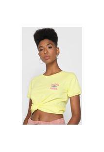 Camiseta Volcom Go Faster Ringer Amarela