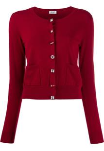 Liu Jo Embellished Slim-Fit Cardigan - Vermelho