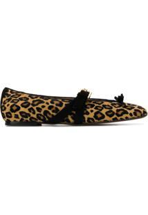 L'Autre Chose Leopard Print Sabrinas - Marrom