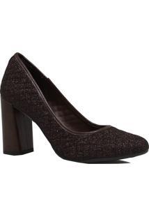 Sapato Dakota Scarpin Salto Alto Marrom
