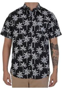 Camisa Polo Manga Curta Hurley Palms Masculina - Masculino