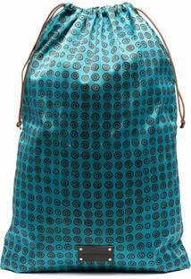 10 Corso Como Clutch Com Placa De Logo - Azul