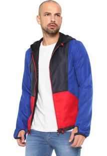 Jaqueta Calvin Klein Jeans Recortes Azul/Vermelha