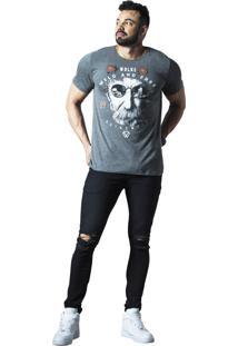 Camiseta Wolke Gola Careca Cinza