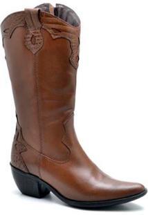 Bota Top Franca Shoes Country Feminino - Feminino-Caramelo