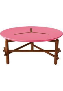 Mesa De Centro Twist Cacau E Pink