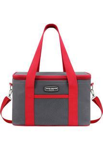 Bolsa Térmica- Cinza & Vermelha- 18X28X17Cmjacki Design