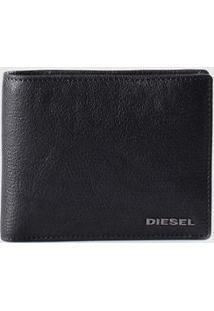 Carteira Diesel Hiresh S Masculina - Masculino-Preto