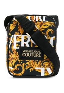 Versace Jeans Couture Bolsa Tiracolo Com Estampa Barroca - Preto