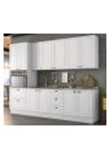Cozinha Modulada 5 Peças 100% Mdf Americana 3 Branco Henn