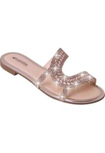 Chinelo Mississipi Rose Com Brilho