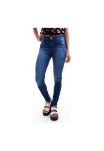 Calça Feminina Jeans Cirarrete Escuro Estonado