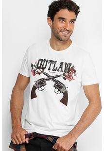 Camiseta Ellus Outlaw Estampada Masculina - Masculino