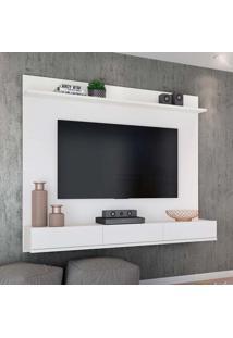 Painel Para Tv 55 Polegadas Winterfel Branco Acetinado 180 Cm
