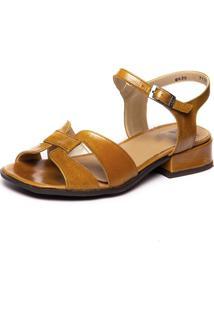 Sandalia Salto Baixo Amarela - Pequi 7735