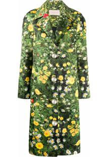 Christopher Kane Casaco London Fields Com Abotoamento Simples - Verde