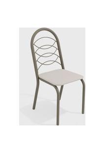 Cadeira Holanda Nickel/Branco (Par) Kappesberg
