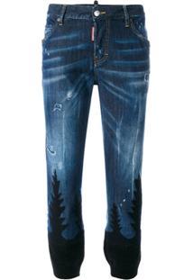 Dsquared2 Calça Jeans Com Padronagem 'Cool Girl' - Azul