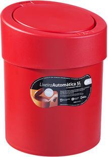 Lixeira Automática De 5 Litros Vermelha