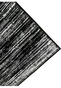 Tapete De Sala Belga Ligno Des 2 - 0,68X2,20M - Edantex - Preto - Dafiti