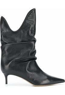 The Attico Ankle Boot Com Salto 60Mm - Preto
