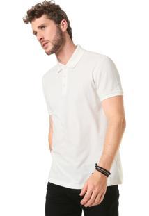 Camisa Polo Ellus 2Nd Floor Piquet Simples Off White