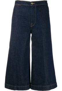 Frame Calça Jeans Pantacourt - Azul