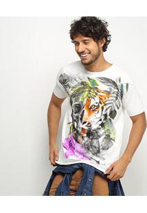 Camiseta Derek Ho Skull And Jungle Togethet Masculina - Masculino-Off White