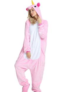 Pijama Rioutlet Macacão Unicórnio Rosa