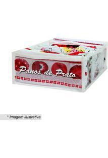 Organizador De Panos- Incolor & Branco- 10X24X35Cm