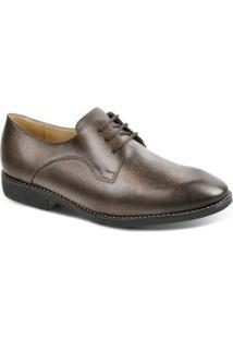 Sapato Social Masculino Derby Polo State - Masculino-Marrom